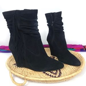 NWOB INC International Concepts Suede Wedge Boot